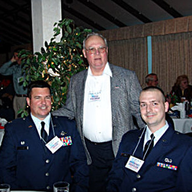 Lt. Col. Brian Vaughn, Reed Thomas and Lt. Michael Povilus