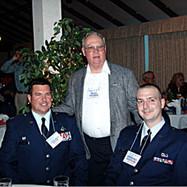 Lt. Col. Brian Vaughn, Reed Thomas and Lt. Michael Povilus