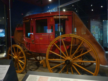 The way to travel in the 1800's