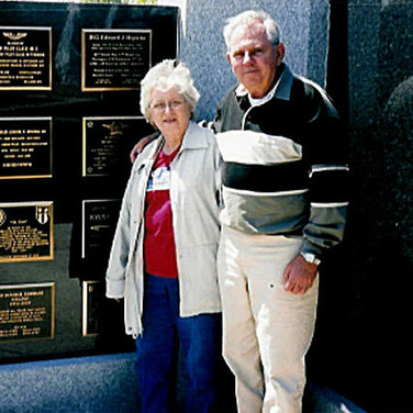 Jack Warner (H-4-1960) and his wife Pat examining our Plaque