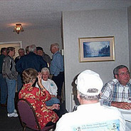 The Hospitality room was the center of the opening evening's activities