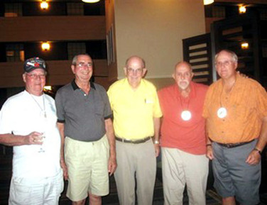 """Our Reunion leaders, Reed Thomas, David Hawk, W.C. Chilton, Larry Robin, and William """"Chick"""""""