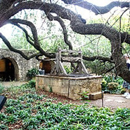 More of the sites of downtown, an old well at the Alamo