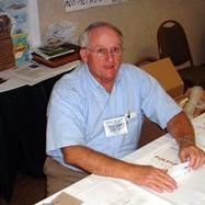 William Chicjk manning the Registration desk