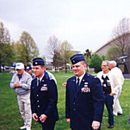 Active duty Airmen were present to help the dedication ceremony
