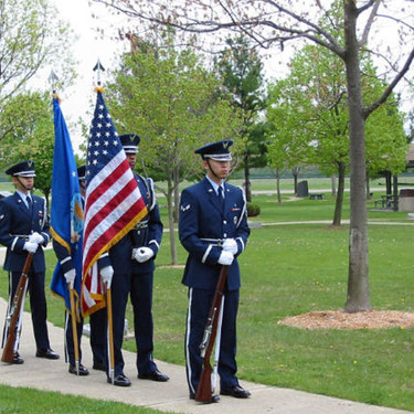 The Honor Guard from Wright-Patterson was ready to present the Colors