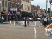 The start on oue tour of Beale St.
