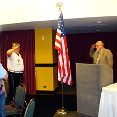 Fred had the honor of Posting the Colors at our Breakfast meeting
