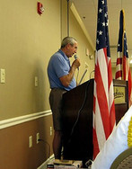 David Hawk giving us his Treasurer's Report