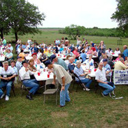 A group picture at the Bar-B-Q