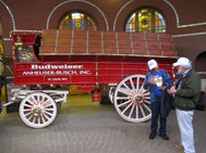 The Famous Bud Beer wagon