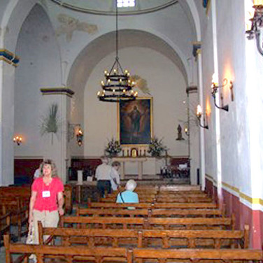 Inside the Mission Cocepceion chapel