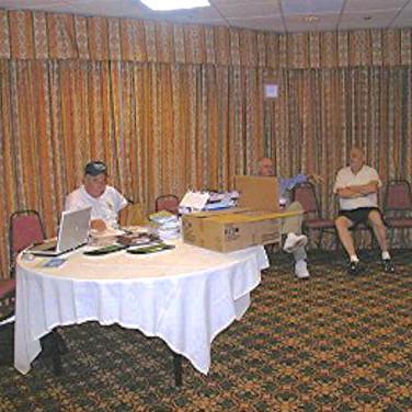 Mike was left manning the Registration Desk