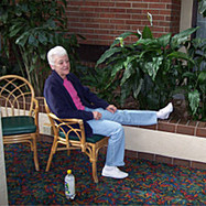 Taking a break at the hotel after touring all the sites in and around the Garden of the Gods