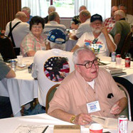 Duane Gross was one of the many people who enjoyed the Hospitality Suite ammenities