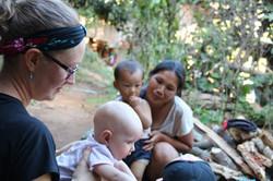Ministering at a Karen village