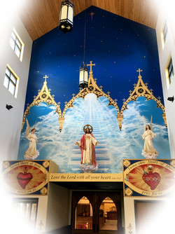 Immaculate Conception Mural Detail