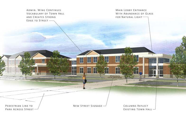 Civic Center Conceptual Rendering