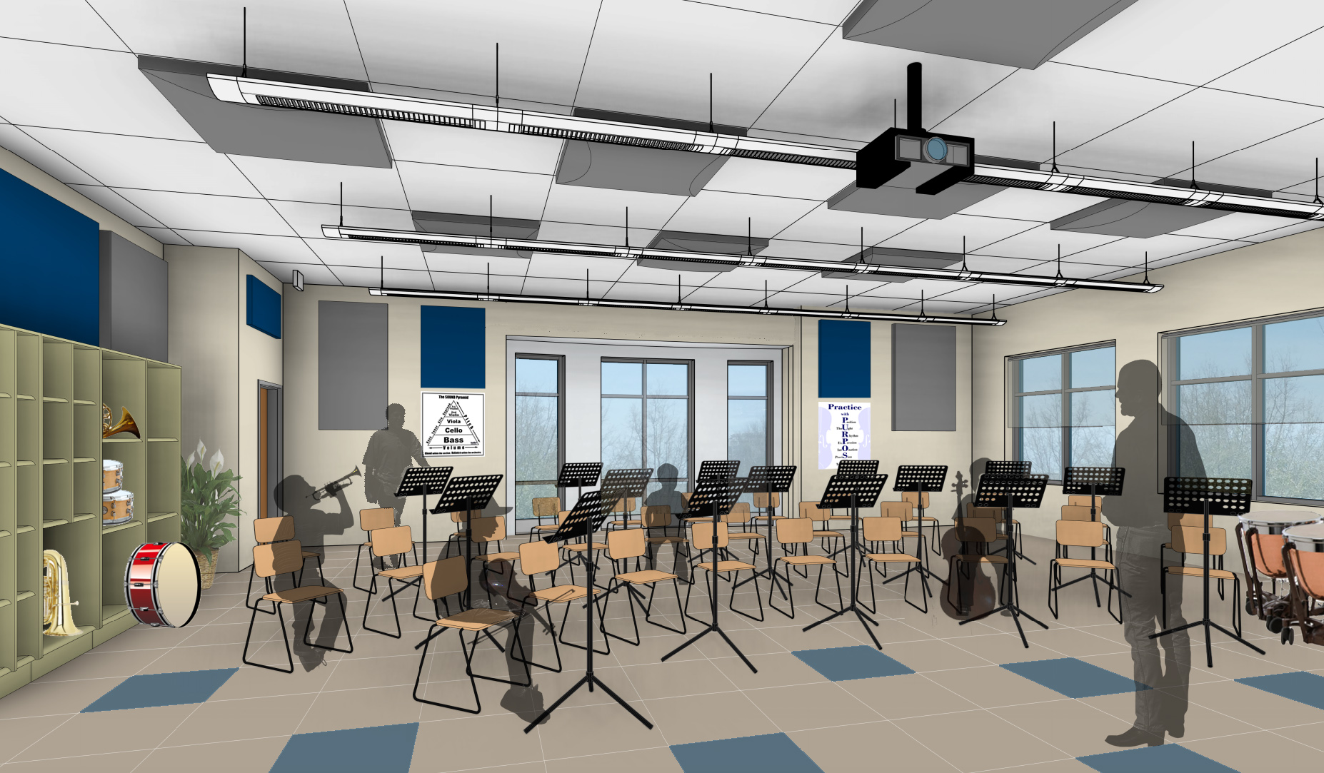 Trinity Episcopal School - Music Room