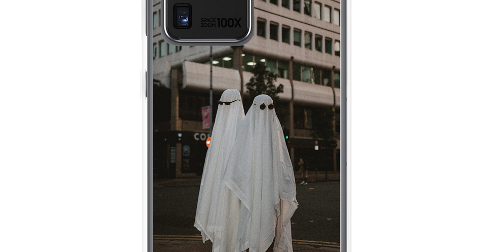 'Ghosts in Paradise' Clear Samsung Case