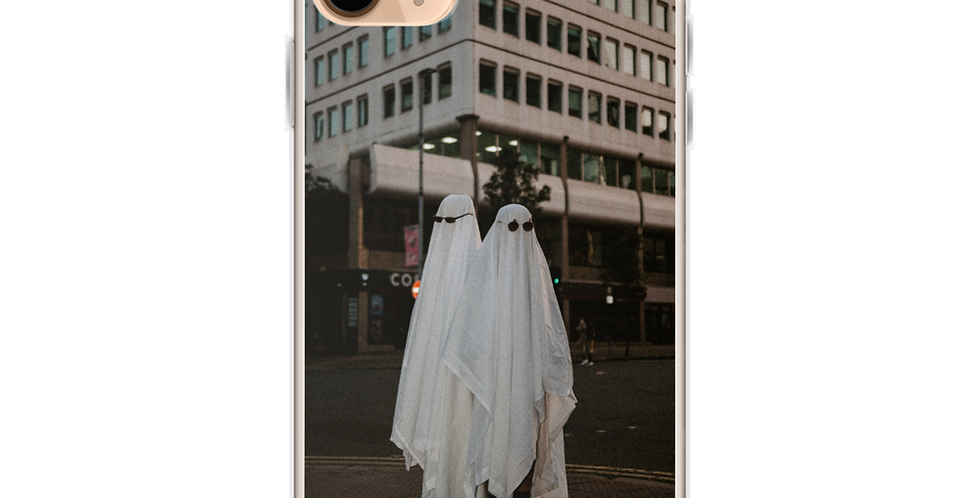 'Ghosts in Paradise' Clear iPhone Case