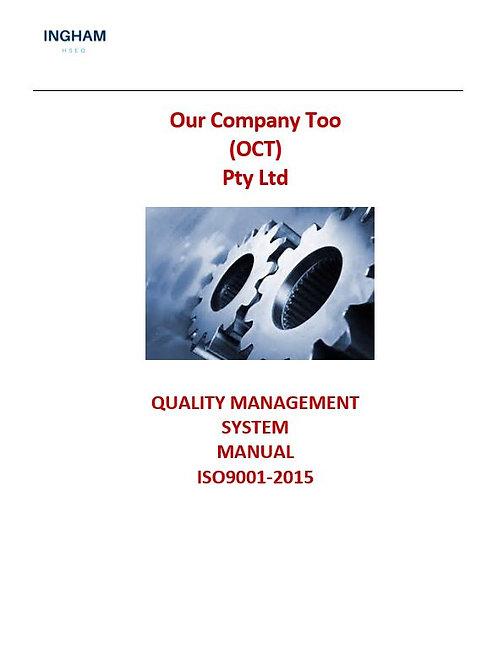 QMS Manual – addressing ISO9001-2015