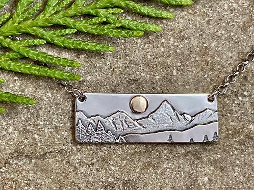 Mountain Bar Necklace -Mount Assiniboine