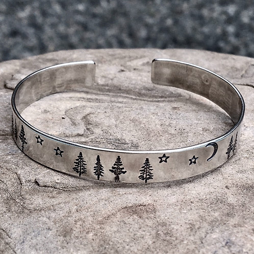Forest Night Cuff Bracelet
