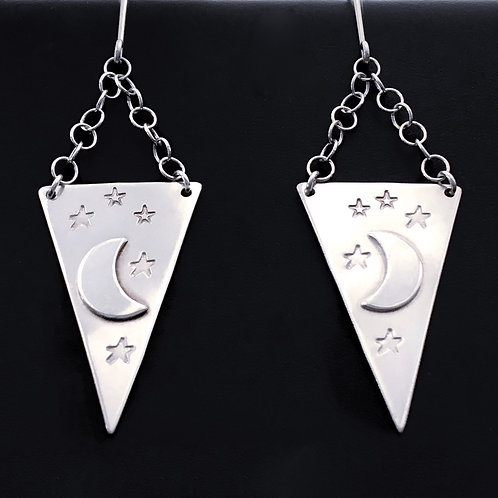 Celestial Triangle Earrings