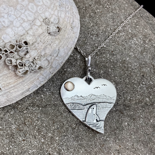 Orca Heart Necklace