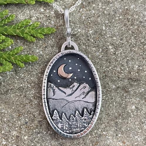 Mountain Forest Dark Night Necklace