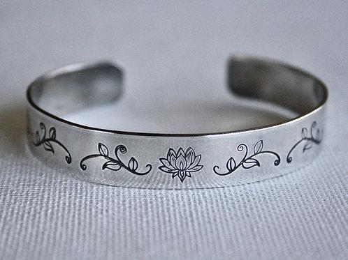 Lotus Flower Cuff Bracelet