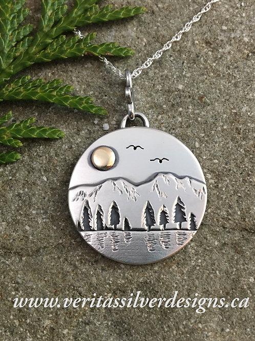 Mountain Shore Reflection Necklace