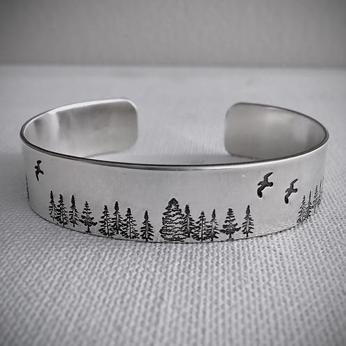 Forest Wide Cuff Bracelet