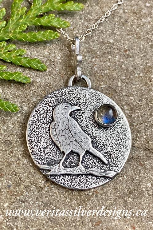 Raven Moonstone Necklace
