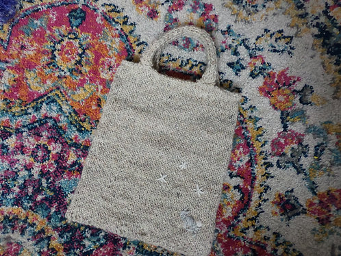 Easy and Simple Small Knit Tote Bag