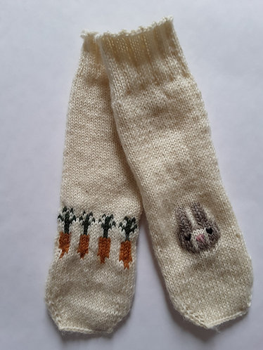 Carrot and Bunny Socks Knit Pattern