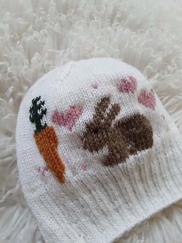 """""""Bunny and Carrot"""" Knit Hat Pattern"""