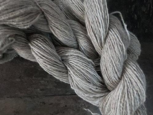 3 ply Gotland wool and angora yarn