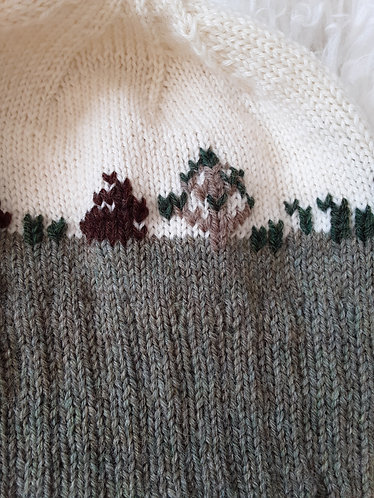 """Bunnies in the Field"" Knit Hat"