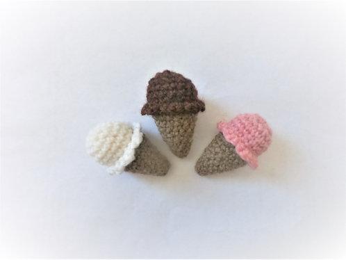 Small Ice Cream Cone Crochet Pattern