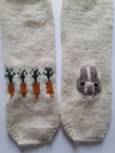 Carrot and Bunny Socks Size Toddler