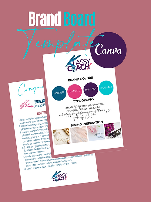 Brand Board Canva Template