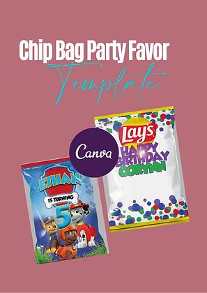 Chip Bag Party Favor TEMPLATE