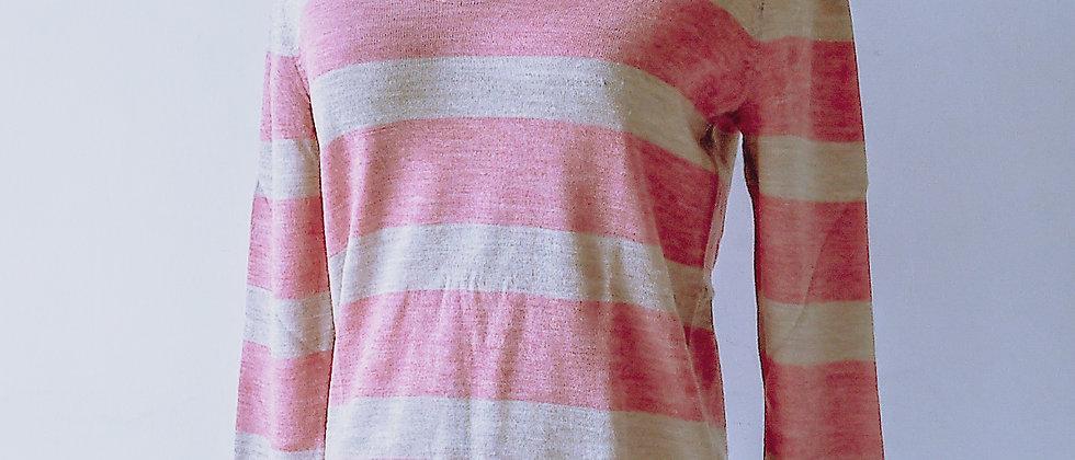 針織間紋羊毛上衣