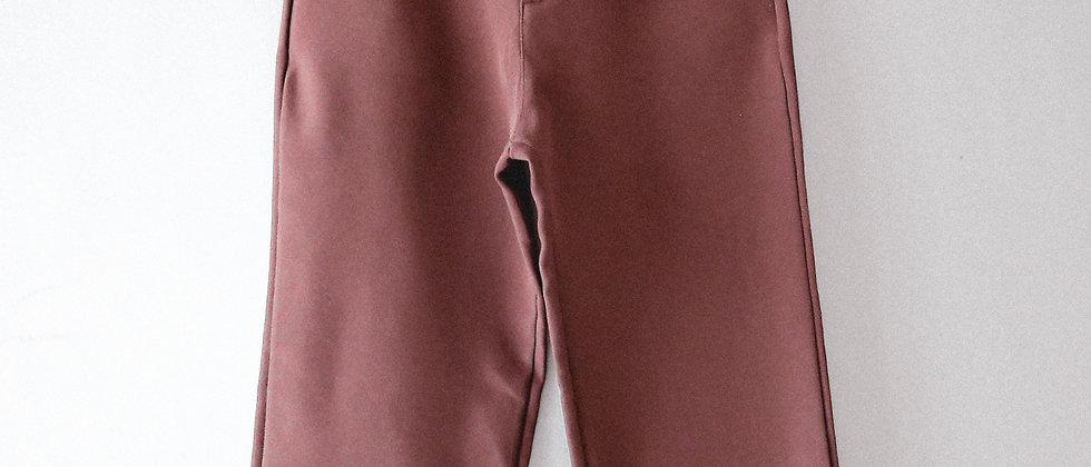 棕色闊腳西褲