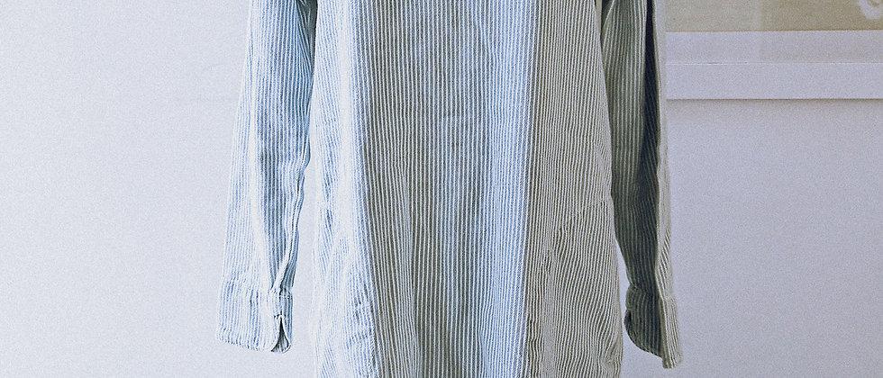 Washed denim pinstripe dress