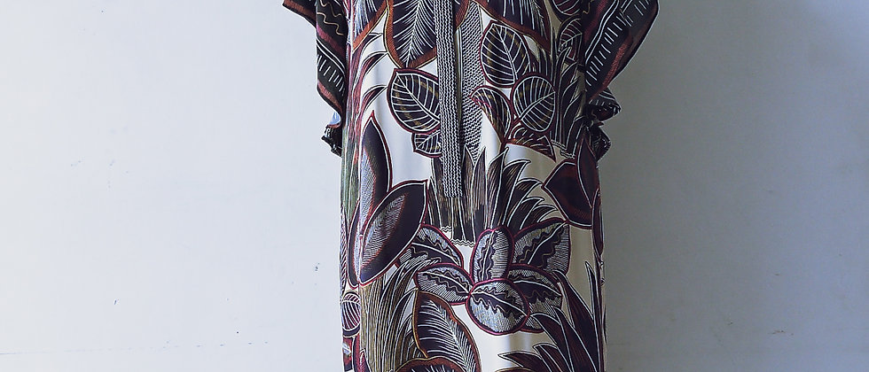 WHISTLES tropical print dress