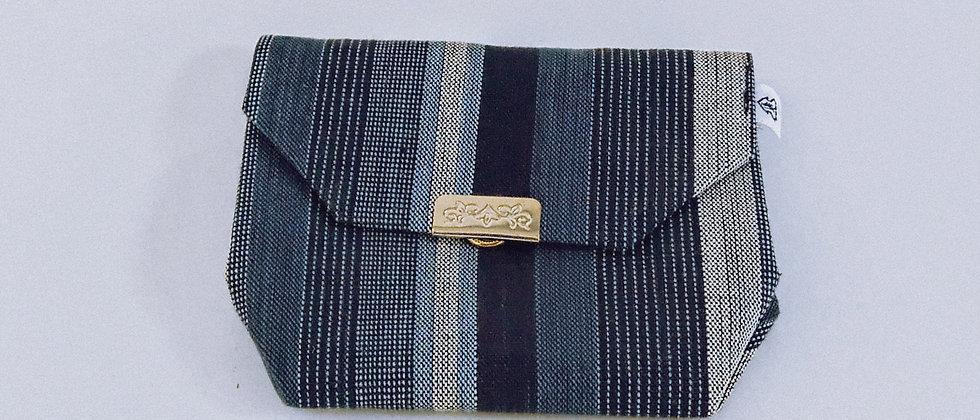 Blue woven purse