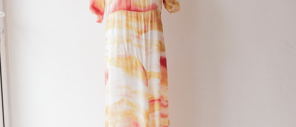 Cloudy print dress